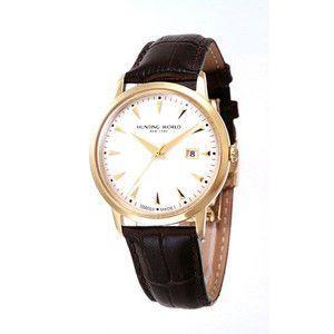 HUNTING WORLD ハンティングワールド プレゼンテ 腕時計 スイス製  HW914GSIBR 茶皮ベルト|rcmdse