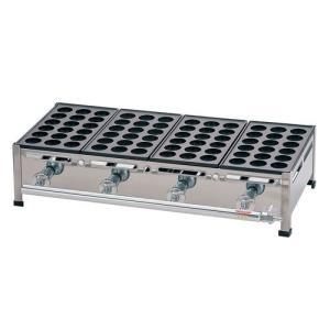 荒木金属 関西式たこ焼器(18穴) 4枚掛 LPガス GTK7810  JANコード 4905001...