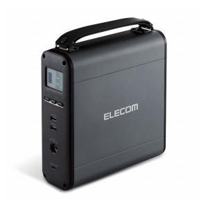 エレコム バッテリー コンパクト 60900mAh AC × 1 / DC × 1 / Type-C × 1 / USB-A × 2 ブラック DE-AC05-60900BK 代引不可 rcmdse