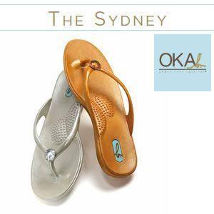 OKA b. オカビー Sydney シドニー  コンフォートサンダル ミニクリスタルストーンがキラリ rcmdse