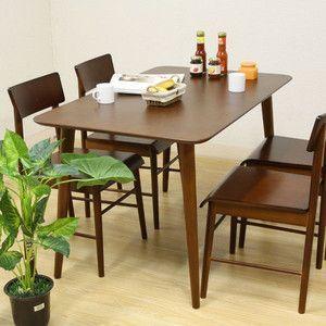 ダイニングテーブル テーブル 木目 ダイニング 机 4人掛け エクレア DBR|rcmdse
