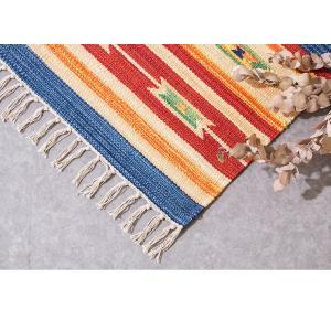 キリム コットンマット 70×120 ラグ ラグマット アジアン インド 玄関マット キッチンマット バスマット 洗える 長方形 rcmdse 16