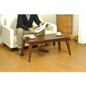 引出付きローテーブル リビングテーブル 幅95cm×高さ40cm シンプル 引き出し収納 ローテーブル  代引不可 rcmdse 04
