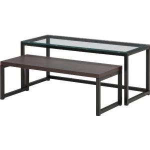 不二貿易 ガラスネストテーブル DBR 96074|rcmdse