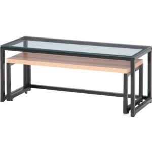 不二貿易 ガラスネストテーブル LBR 96075|rcmdse