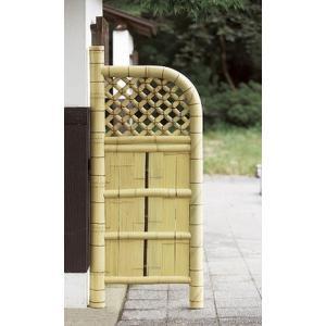 天然竹玉袖垣 55cm幅 天然竹使用 竹垣 目隠し フェンス 玄関 間仕切り 和風 庭園 代引不可|rcmdse