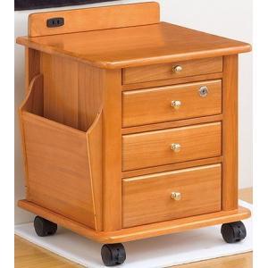 ナイトテーブル 天然木 リビングワゴン コンセント付 ベッドサイドテーブル ベッドワゴン 収納 キャスター付き 代引不可|rcmdse