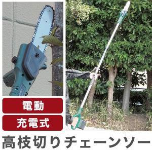 充電式電動高枝切りチェーンソー 代引不可の関連商品9
