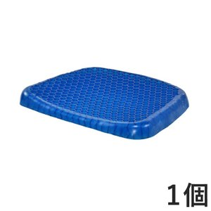 快適ジェルクッション 1個 ブルー ジェルクッション 快適 クッション ジェル カー むれにくい 滑り止め付き 代引不可|rcmdse