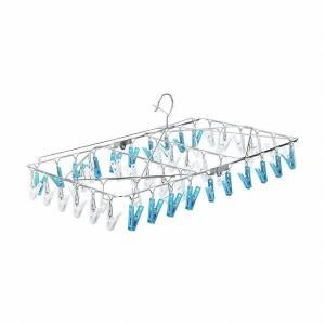 レック ステンレス 角ハンガー 54ピンチ 洗濯ハンガー W-430