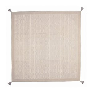インド綿ボンディングラグ クラック 約185×185cm WH 代引不可|rcmdse