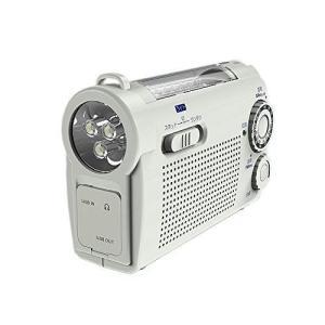 WINTECH手回し充電ラジオライトKDR-107W JANコード4521171114441 本体サ...