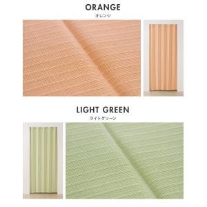 間仕切りカーテン 幅100cm テイジン エコリエ使用 パタパタ 遮熱 保温 遮像 UVカット つっぱり式 カーテン のれん|rcmdse|04