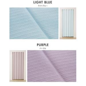 間仕切りカーテン 幅100cm テイジン エコリエ使用 パタパタ 遮熱 保温 遮像 UVカット つっぱり式 カーテン のれん|rcmdse|05