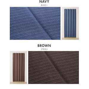 間仕切りカーテン 幅100cm テイジン エコリエ使用 パタパタ 遮熱 保温 遮像 UVカット つっぱり式 カーテン のれん|rcmdse|06
