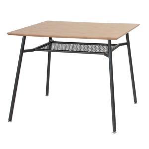 anthem アンセム ダイニングテーブル 保証 幅90cm 25%OFF ナチュラル スチール ブラック 机 デスク 省スペース 代引不可 食卓 作業台