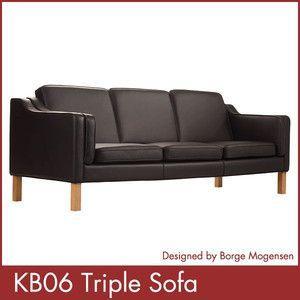 KB06 トリプルソファ KB06 Triple Sofa ボーエ・モーエンセン Borge Mogensen 1年保証付|rcmdse