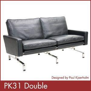 ポール ケアホルム PK31 2P Paul Kjaerholm ソファー デザイナーズ 家具 1年保証付 送料無料|rcmdse