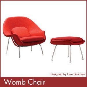 エーロ サーリネン ウームチェアー オットマン Eero Saarinen Womb Chair Ottoman 1年保証付 送料無料 rcmdse