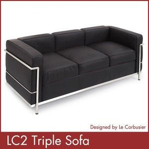 ル コルビジェ LC2 トリプルソファー Le Corbusier コルビジェ ソファー デザイナーズ 家具 1年保証付|rcmdse