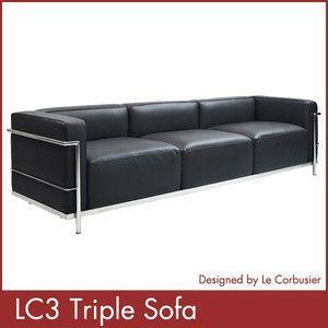 ル コルビジェ LC3 トリプルソファー Le Corbusier コルビジェ ソファー デザイナーズ 家具 1年保証付|rcmdse