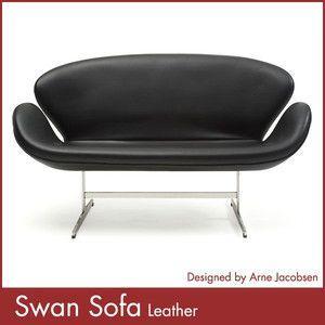 スワンソファー 総本革 アルネ ヤコブセン Arne Jacobsen Swan Sofa ミッドセンチュリー 1年保証付 送料無料|rcmdse