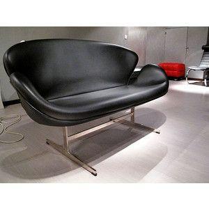 スワンソファー 総本革 アルネ ヤコブセン Arne Jacobsen Swan Sofa ミッドセンチュリー 1年保証付 送料無料|rcmdse|03