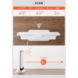 ヒーター simplus 人感センサー付 PTCヒーター 1200W/600W セラミックファンヒーター ホワイト 暖房 パネルヒーター 電気ストーブ 小型 コンパクト|rcmdse|12