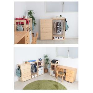 天然木ハンガーラック ハンガーラック ハンガー ラック 天然木 衣類収納 ワードローブ 代引不可|rcmdse|07