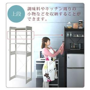 木製 冷蔵庫ラック 幅60 cm 冷蔵庫 上 収納 棚 レンジ 収納 ラック フック付き 可動棚 冷蔵庫用 トースターラック 調味料 キッチン 代引不可|rcmdse|04