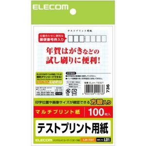 エレコム テストプリント用紙 方眼入り 100枚入 EJH-...
