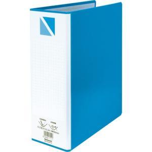 パイプ式ファイル A4・S型/2穴/綴厚80mm ブルー PFP-A4S-8B ポイント10倍