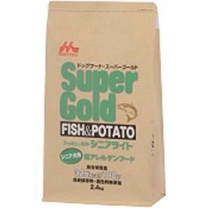 スーパーゴールド フィッシュ&ポテト シニアライト シニア犬用 低アレルゲンフード 2.4kg ポイント10倍