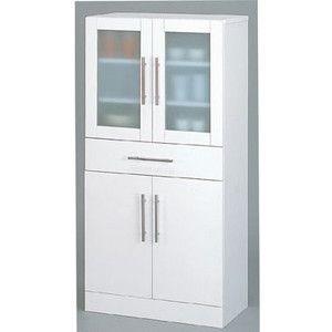 食器棚 ホワイト カトレア・食器棚60−120|rcmdse