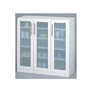 食器棚 ホワイト カトレア・食器棚90−90|rcmdse