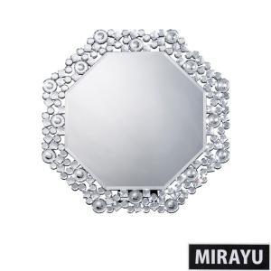 鏡 壁掛け 卓上 2way ミラー クロシオ 八角ミラー クリスタル ミラー代引不可|rcmdse