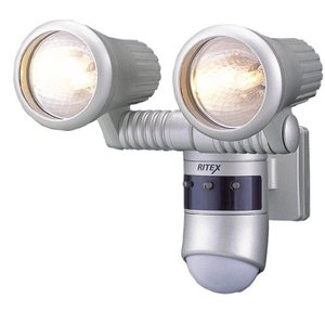 RITEX ライテックス 360度センサーライトG ハロゲン100W×2 G-5200|rcmdse