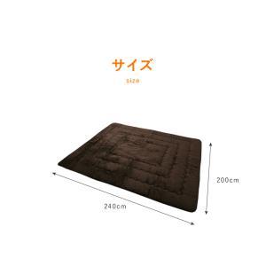 ラグ ラグマット 多層構造 ふかふかラグ 厚手 極厚 あったか 200×240 こたつ 敷布団 長方形 rcmdse 02