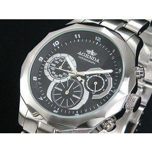 アジェンダ AGENDA 腕時計 クロノグラフ AG-8021-01|rcmdse
