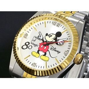 ディズニー ミッキー 腕時計 80周年 天然ダイヤ メンズ DISNEY-3|rcmdse