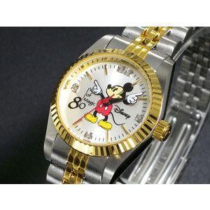 ディズニー ミッキー 腕時計 80周年 天然ダイヤ レディース DISNEY-4|rcmdse