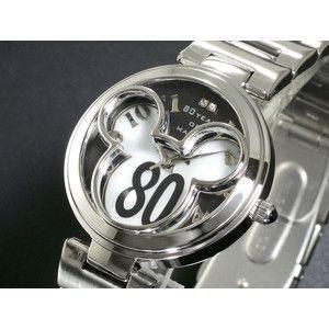 ディズニー ミッキー 腕時計 80周年 白蝶貝 ブラック DISNEY-6|rcmdse