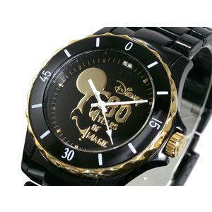 ディズニー ミッキー 腕時計 80周年 ハイブリッドセラミック ブラック DISNEY-7|rcmdse