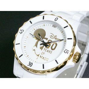 ディズニー ミッキー 腕時計 80周年 ハイブリッドセラミック ホワイト DISNEY-8|rcmdse