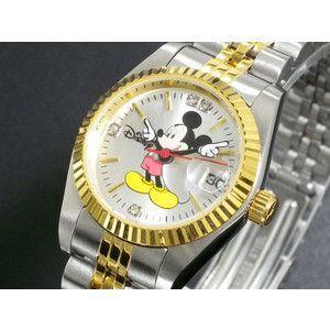 ディズニー ミッキー 腕時計 天然ダイヤ レディース DISNEY-10|rcmdse