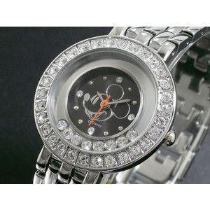 ディズニー ミッキー 腕時計 ハッピークリスタル 黒 DINEY-12|rcmdse