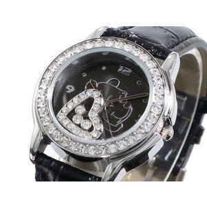 ディズニー プーさん 腕時計 ハッピークリスタル 黒 DINEY-19|rcmdse