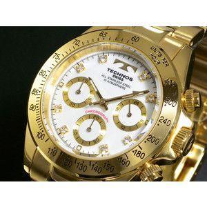 テクノス TECHNOS 腕時計 クロノグラフ TGM639GW|rcmdse