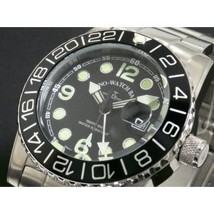 ZENO ゼノ 腕時計 メンズ 500m防水 スイス製 6349Q-BK-MT|rcmdse