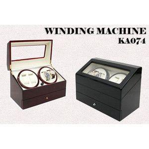 ワインダー/ワインディングマシーン 4本巻き  KA074 ブラック ポイント10倍